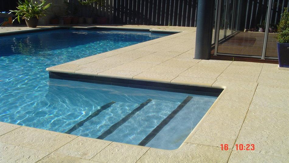 Concrete swimming pools perth concrete spas perth - Swimming pool water features perth ...